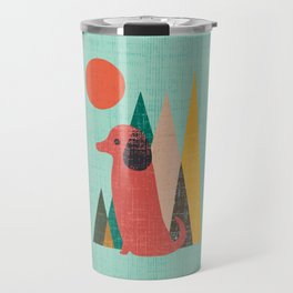 Waiting for You Dachshund Travel Mug