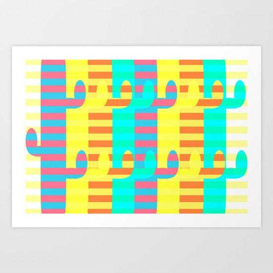 Cacti light Art Print