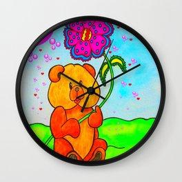 Dudley The Bear Wall Clock