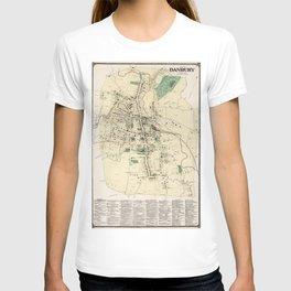 Vintage Map of Danbury Connecticut (1867) T-shirt