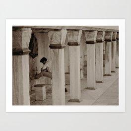 "Man washing feet at Sultan Ahmed Mosque (""Blue Mosque"", Istanbul, TURKEY) Art Print"