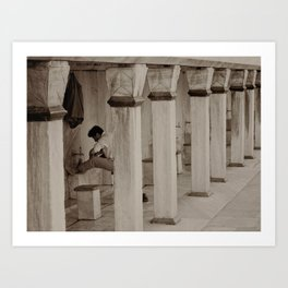 "Man washing feet at Sultan Ahmed Mosque (""Blue Mosque"", Istanbul, TURKEY) Art Print"