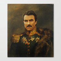 tom selleck Canvas Prints featuring Tom Selleck - replaceface by replaceface