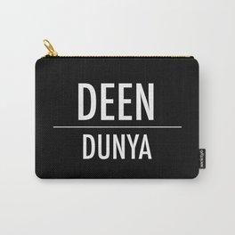 Deen Over Dunya x White Carry-All Pouch