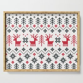 HOLIDAY SWEATER PATTERN Serving Tray
