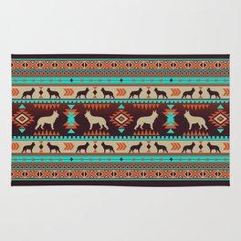 Boho dogs | German shepherd sunset Rug