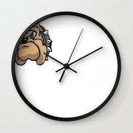 Mens Proud Pitbull Dad Shirt Wall Clock