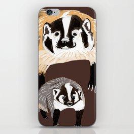 American badger iPhone Skin