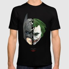 BATMAN Mens Fitted Tee Black MEDIUM