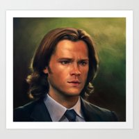 sam winchester Art Prints featuring Sam Winchester from Supernatural by Annike