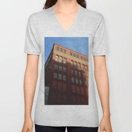 1400 Woodward - Downtown Detroit Unisex V-Neck