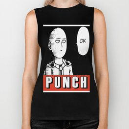 One Punch Obey Biker Tank