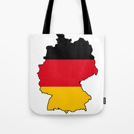 Germany Map with German Flag Tote Bag