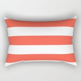 Ogre Odor - solid color - white stripes pattern Rectangular Pillow