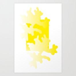 Yellow abstract art Art Print