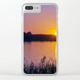 Beautiful sunset over the lake Clear iPhone Case