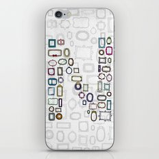 letter N - nailed frames iPhone & iPod Skin