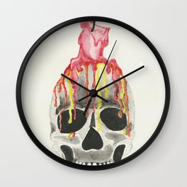 Burning Time Wall Clock