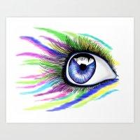 eye balling it Art Print