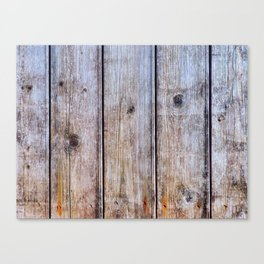 Old Fence Planks With Rust, Wood Decor Canvas Print
