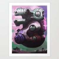 Giant pitcher space ship Art Print