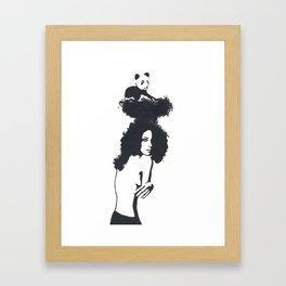 Traveling Panda Framed Art Print