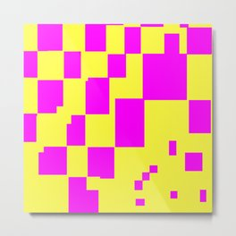 Egg Yellow-Fuchsia City Scapes Abstract Metal Print