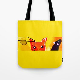 CAT AND MICE OVER A CHEESE Tote Bag