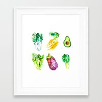 vegetables Framed Art Prints featuring Vegetables by Naomi Bardoff