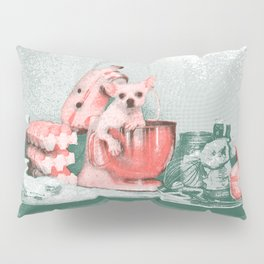 Cooking chihuahua Pillow Sham