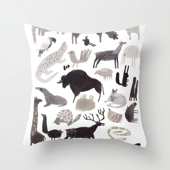 animaletti Throw Pillow