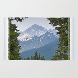 MOUNT LARRABEE FROM HEATHER MEADOWS Rug
