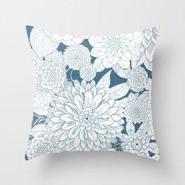 Blue Sketchbook Throw Pillow