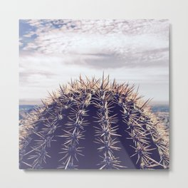 Saguaro Cactus Dome Metal Print