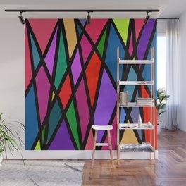Purple Diagonals Wall Mural