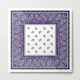 Purple twist Bandana Metal Print