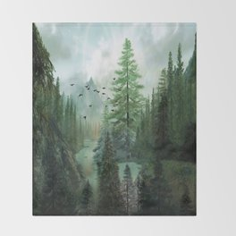 Mountain Morning 2 Throw Blanket