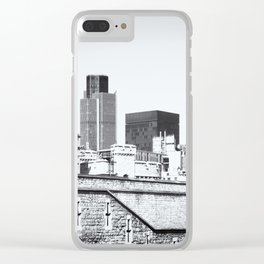 Old Meets New Clear iPhone Case