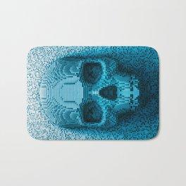 Pixel skull Bath Mat