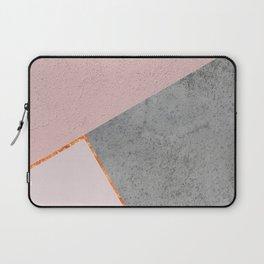 BLUSH GRAY COPPER GEOMETRICAL Laptop Sleeve