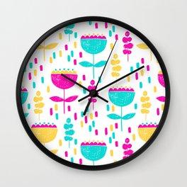 Colorful Tulips by Mak Mak Wall Clock