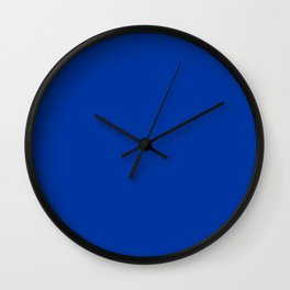 Dark Princess Blue Fashion Color Trends Spring Summer 2019 Wall Clock