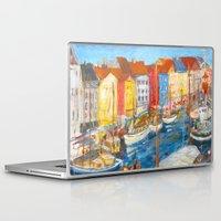 copenhagen Laptop & iPad Skins featuring New Harbor, Copenhagen by Charles David Kelley