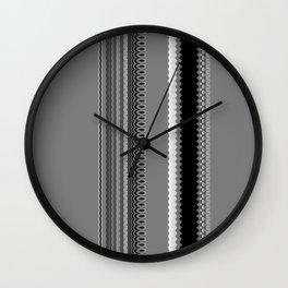 Gray Stripes Abstract Wall Clock