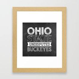 Undisputed Buckeyes Framed Art Print