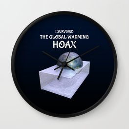 I Survived The Global Warming Hoax Wall Clock