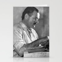 hemingway Stationery Cards featuring Ernest Hemingway  by Limitless Design