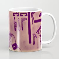 egyptian Mugs featuring Egyptian (Horus) by Aaron Carberry
