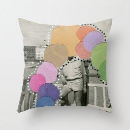 Rainbow Blob Throw Pillow