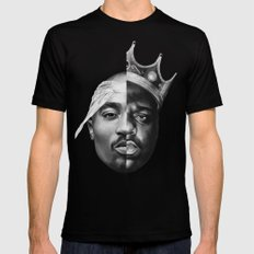 B.I.G/Pac Black LARGE Mens Fitted Tee
